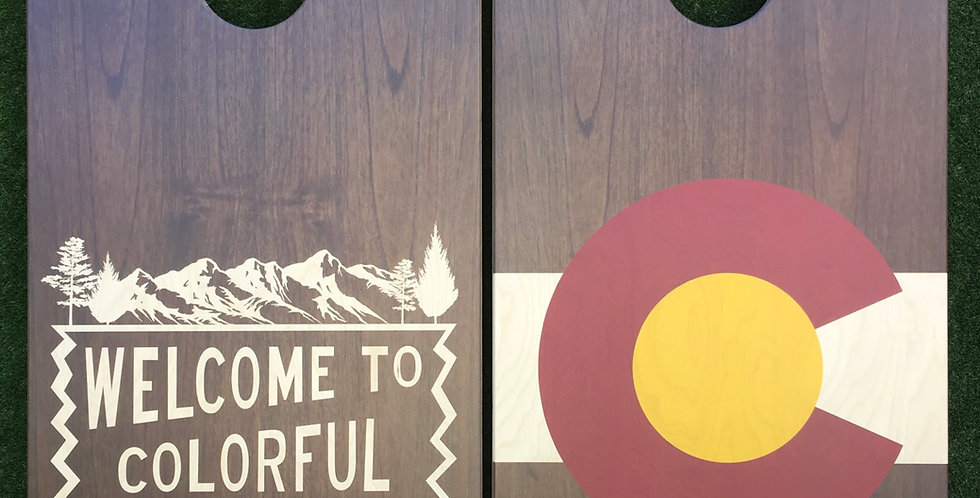 Cornhole Game-Welcome to Colorful Colorado and Rustic Colorado