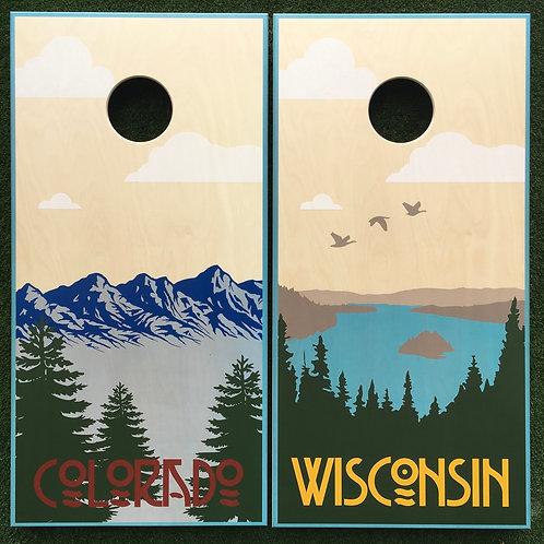 Cornhole Game-Wisconsin and Colorado