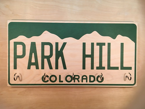 copy of Colorado License Plate Neighborhood (White) Key Holder