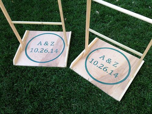 Custom Monogram Ladder Golf