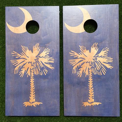 Cornhole Game-South Carolina Flag