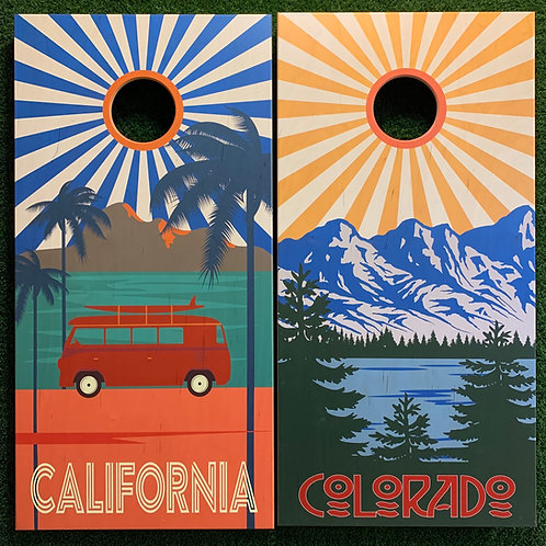 Cornhole Game-Colorado and California Sunburst
