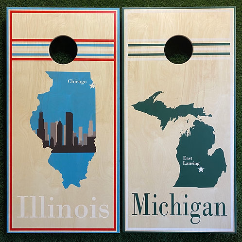 Cornhole Game-Michigan and Illinois