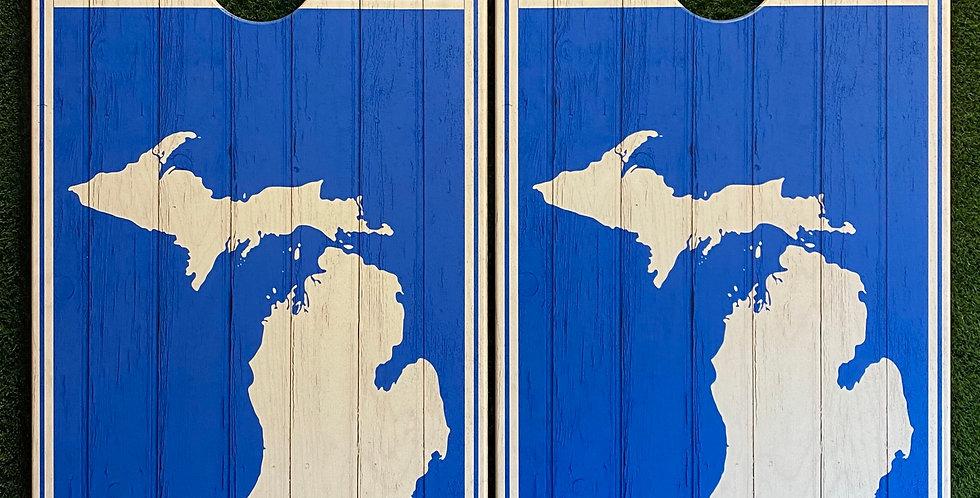 Cornhole Game-Michigan Blue