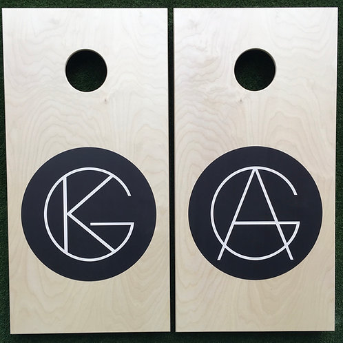 Cornhole Game-Black and White Modern
