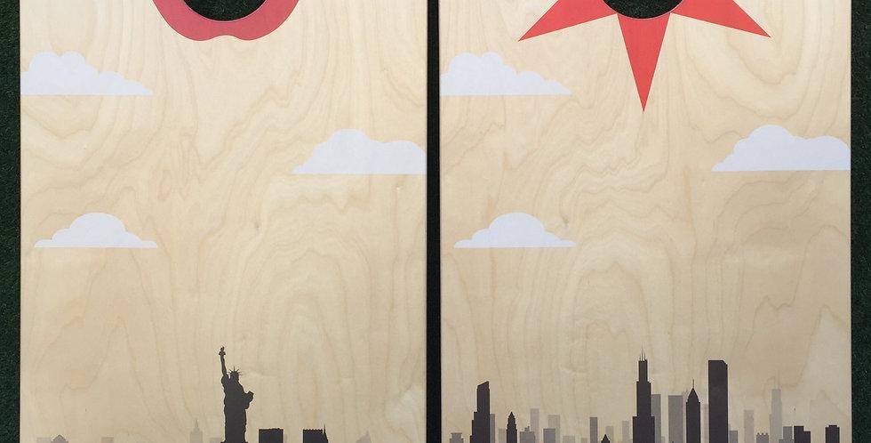 Cornhole Game-New York and Chicago