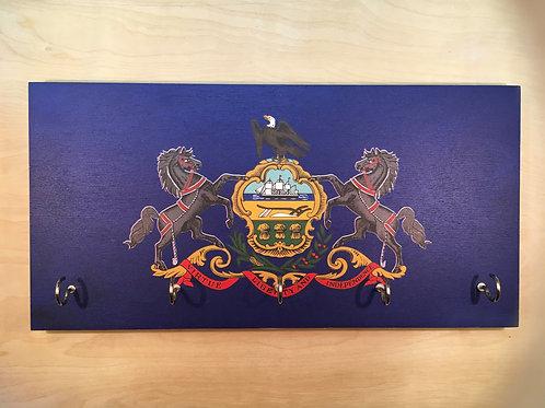 Pennsylvania Flag Key Holder