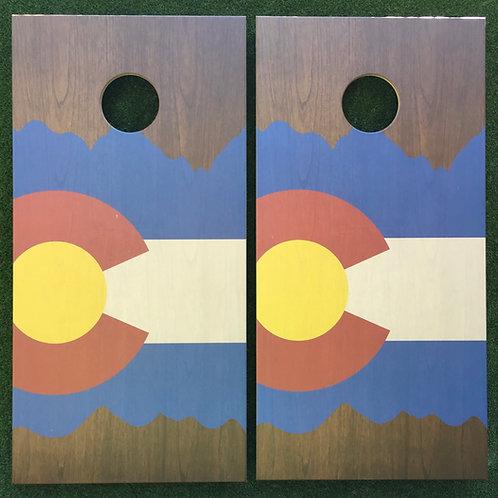 Cornhole Game-Asymmetrical Colorado Mountains