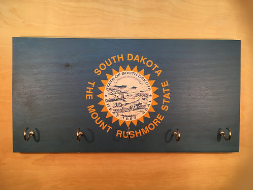 South Dakota Flag Key Holder