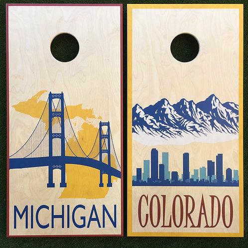 Cornhole Game-Michigan and Colorado