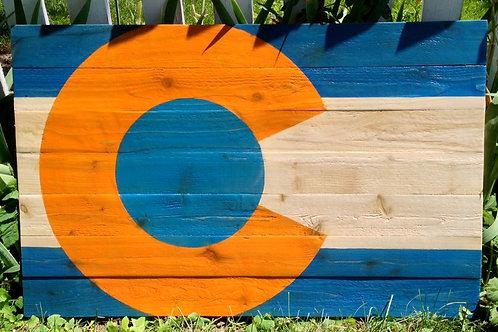 Denver Broncos Flag-Old School