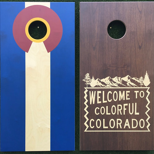 Cornhole Game-Welcome to Colorful Colorado Duo