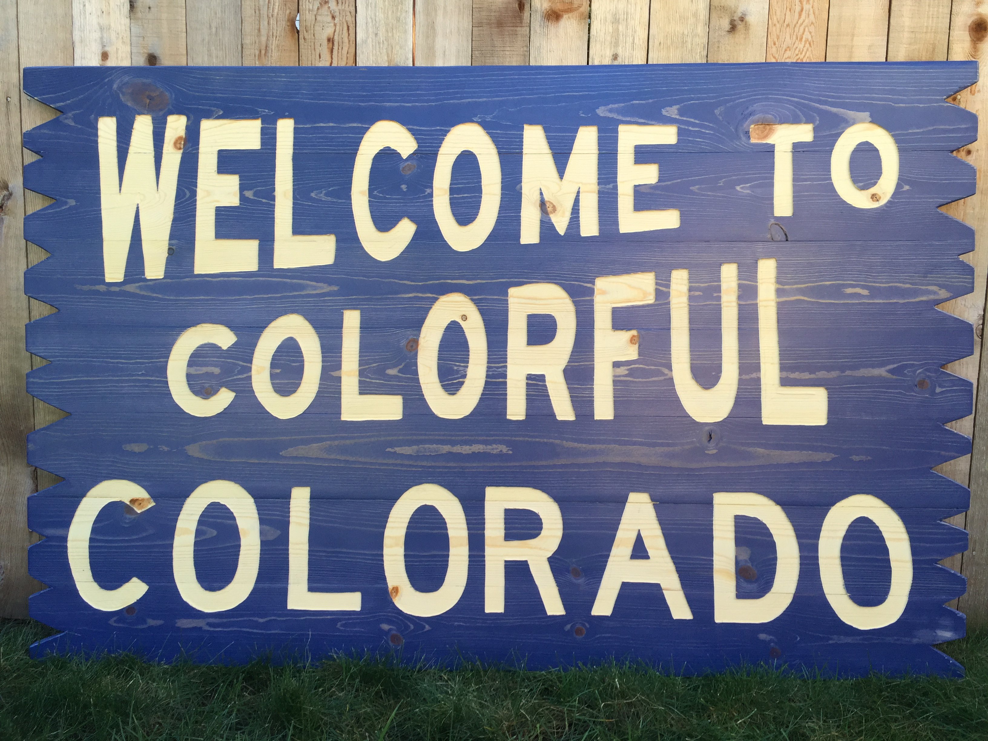 Welcome Sign in Colorado Blue