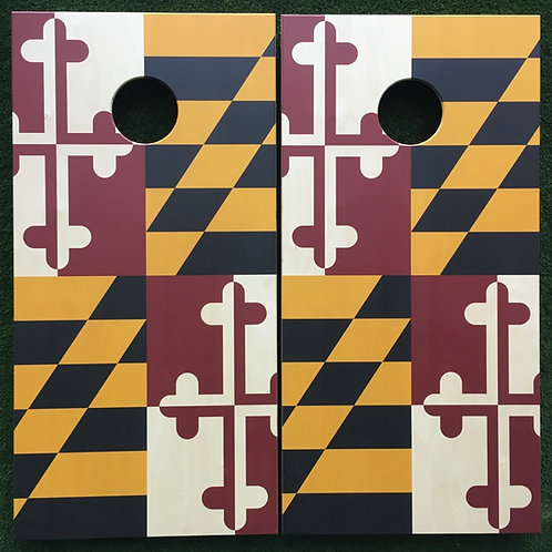 Cornhole Game-Maryland Flag