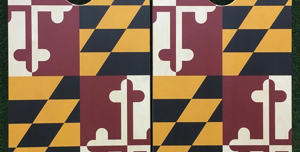 Cornhole Game-Maryland Flag