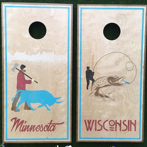 Cornhole Game-Minnesota and Wisconsin Pride