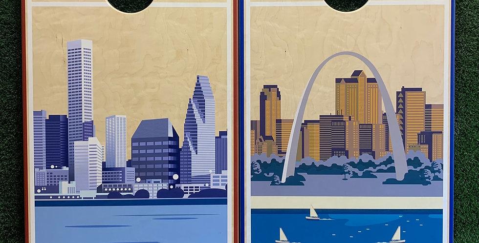 Cornhole Game-Houston and Saint Louis