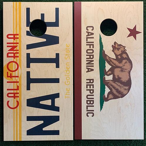 Cornhole Game-California Flag/Native Plate