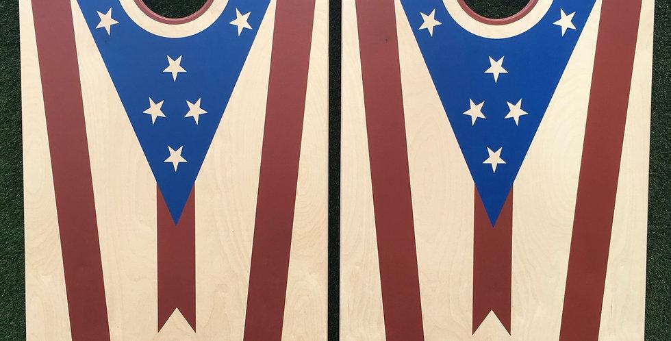 Cornhole Game-Ohio Flag