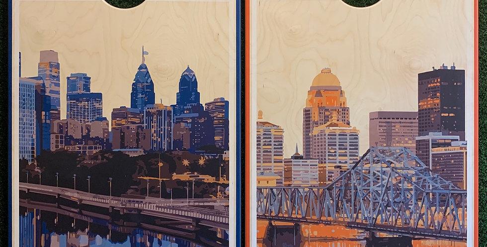 Cornhole Game-Philadelphia and Louisville