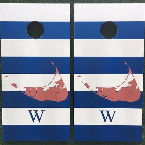 Cornhole Game-Nantucket with Monogram