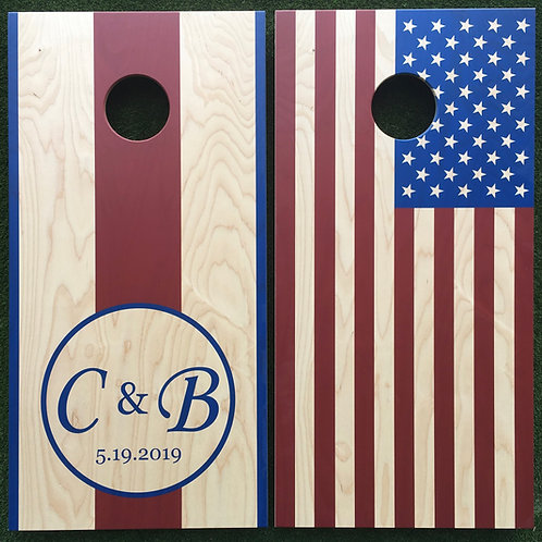 Cornhole Game-Americana Wedding