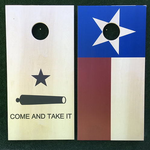 Cornhole Game-Come and Take It and Texas Flag