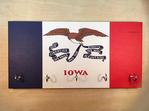 Iowa Flag Key Holder