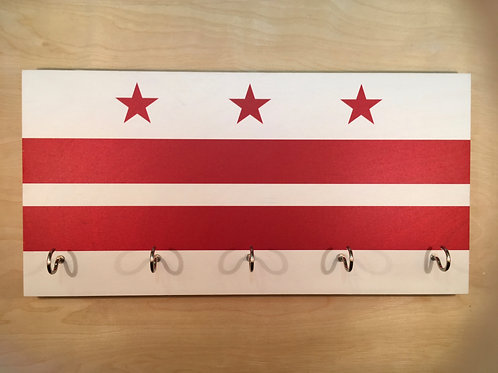 Washington DC Flag Key Holder