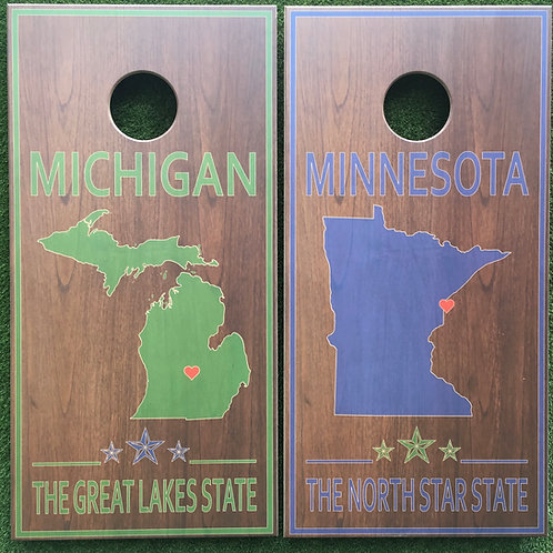 Cornhole Game-Michigan and Minnesota