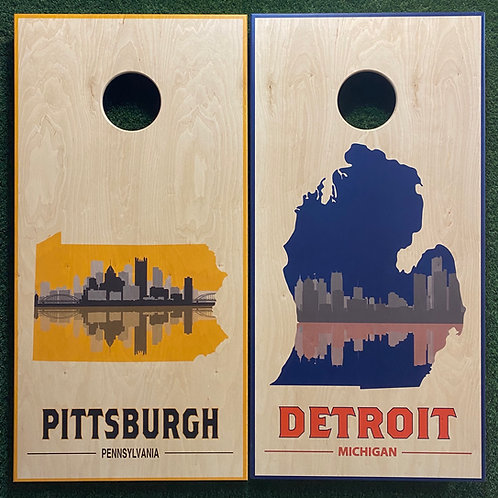 Cornhole Game-Detroit and Pittsburgh