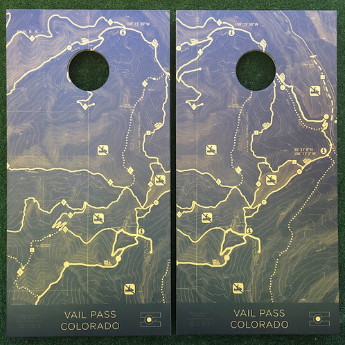 Cornhole Game-Colorado Topography