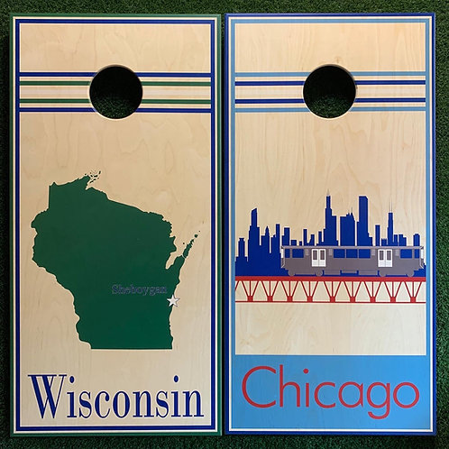 Cornhole Game-Wisconsin and Chicago