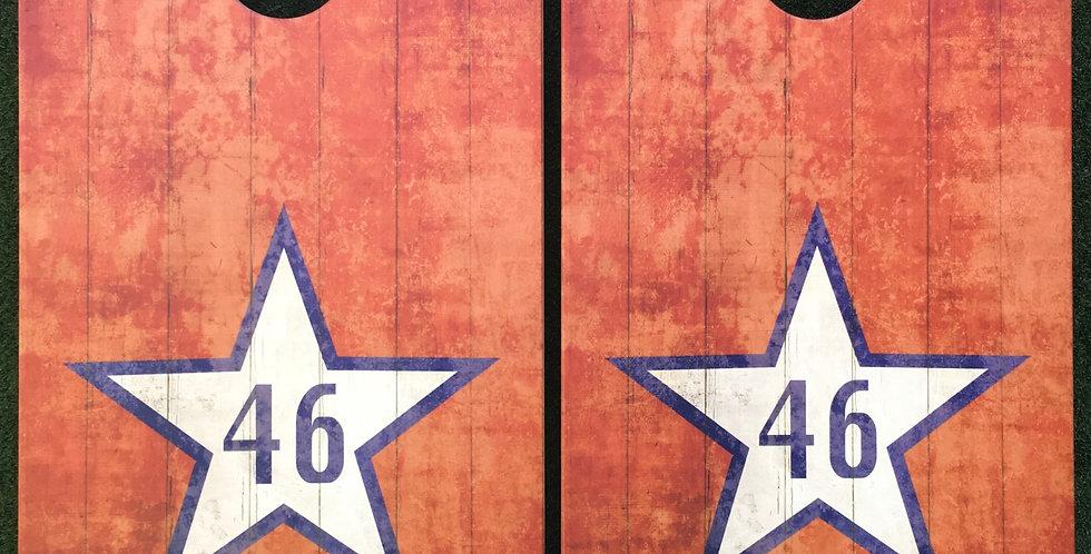 Cornhole Game-Oklahoma 46 Flag