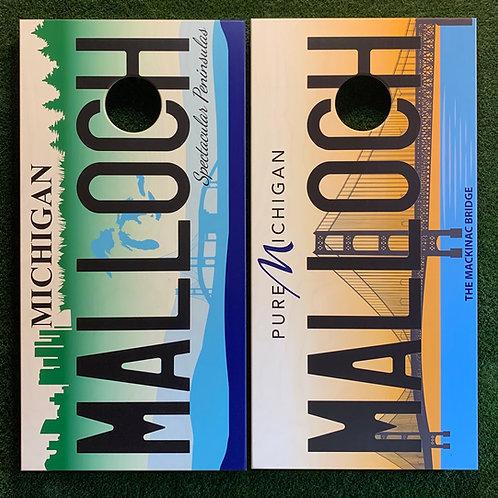 Cornhole Game-Michigan License Plates