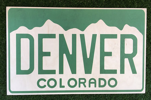 Personalized Colorado Wall Hanging