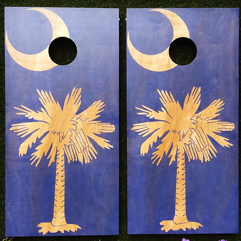 Cornhole Game-South Carolina Flag