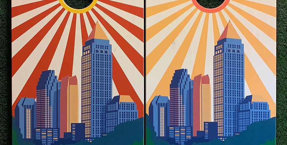 Cornhole Game-Atlanta Sunburst