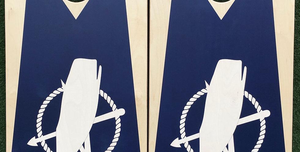 Cornhole Game-Nantucket Flag