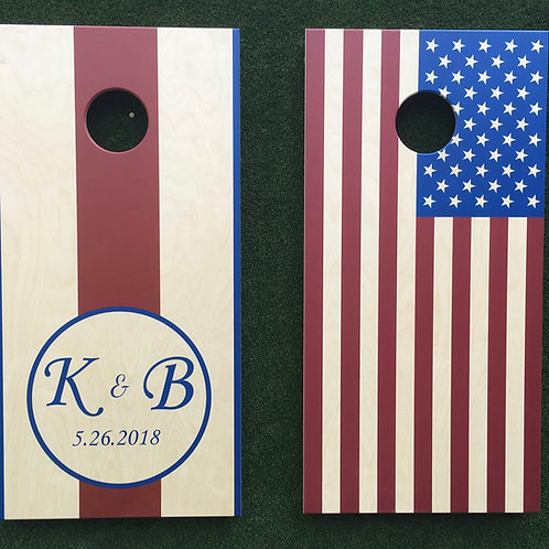 Cornhole Game-Patriotic Wedding