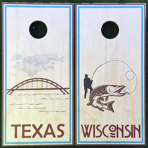 Cornhole Game-Texas and Wisconsin