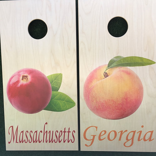 Cornhole Game-Georgia and Massachusetts Pride
