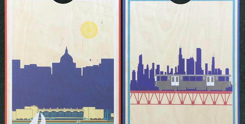 Cornhole Game-Madison and Chicago
