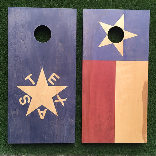 Cornhole Game-Republic of Texas and Texas Flags