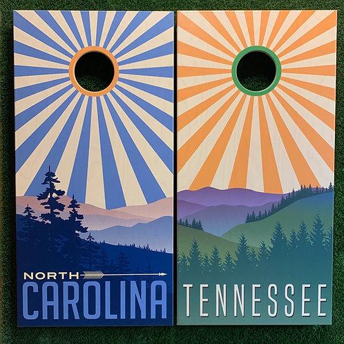 Cornhole Game-North Carolina and Tennessee