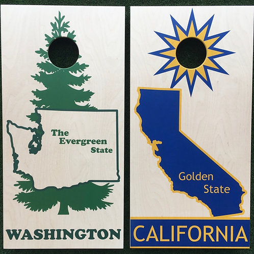 Cornhole Game-Washington and California