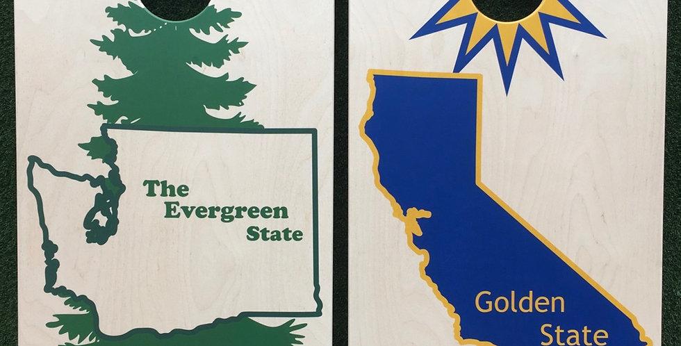 Cornhole Game-Washington and California