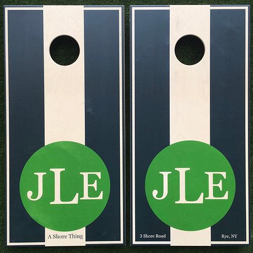 Cornhole Game-Kelly Green Monogram