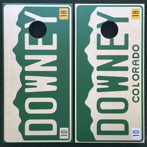 Cornhole Game-License Plate with Last Name