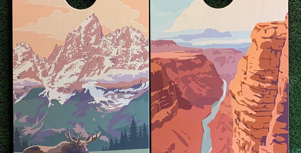 Cornhole Game-Grand Canyon and Grand Teton